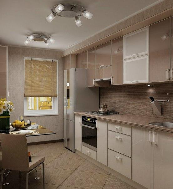 Дизайн маленькой стандартной кухни